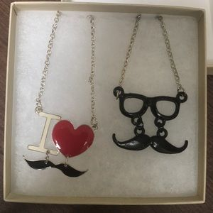 Other - Mustache Necklaces
